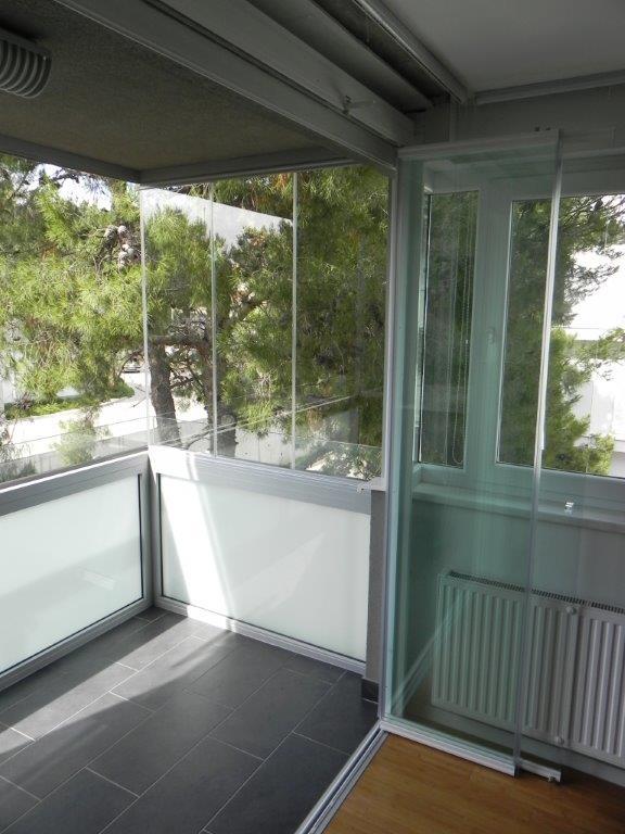 Cerramiento de cristal y puerta de paso para terraza en croacia todocristal de - Puerta terraza ...