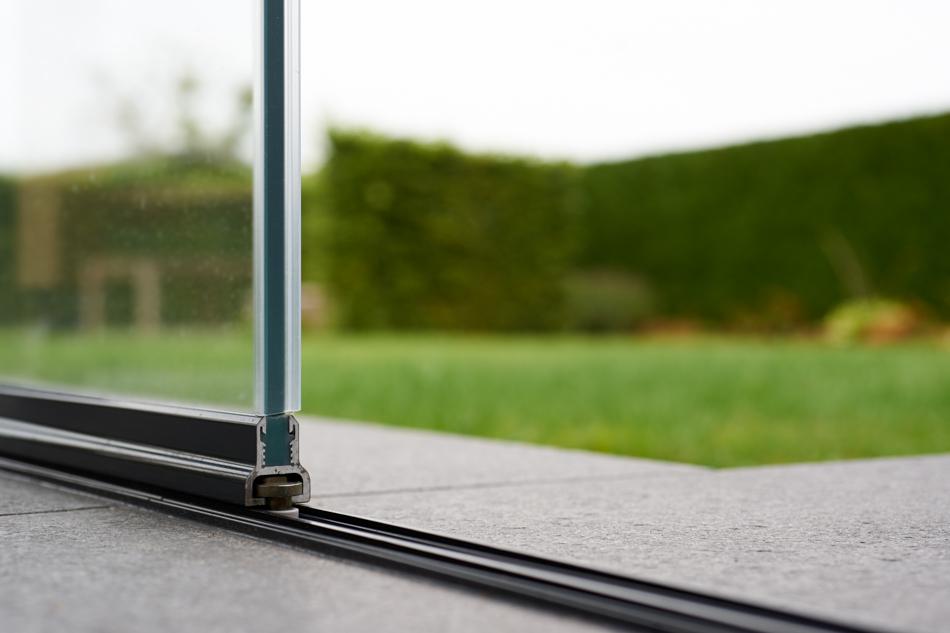Cortina de cristal para terraza en Bélgica