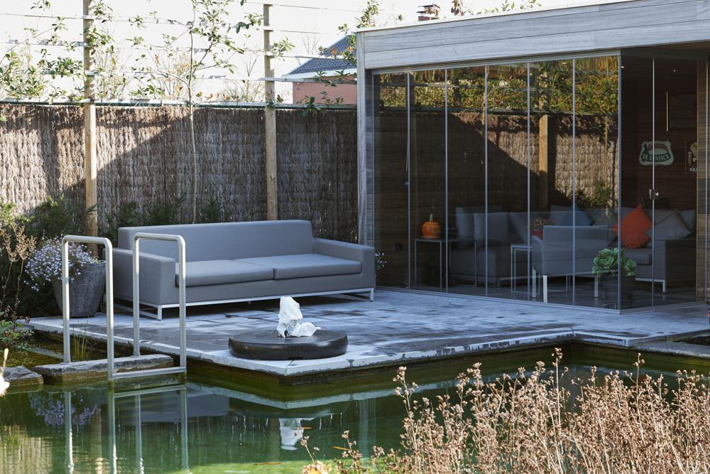 Cortina de cristal sofisticada terraza en Bélgica
