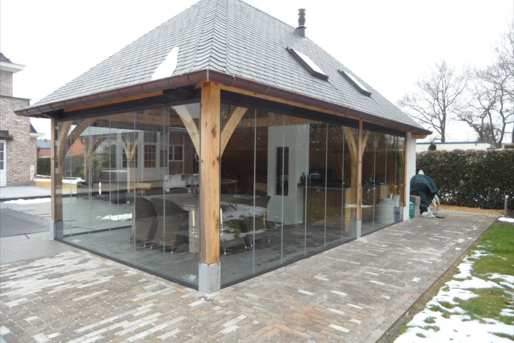 Glazing Frameless System In A Porch In The Netherlands