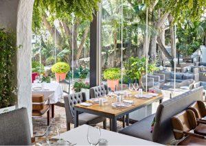 vetrata panoramica interno ristorante