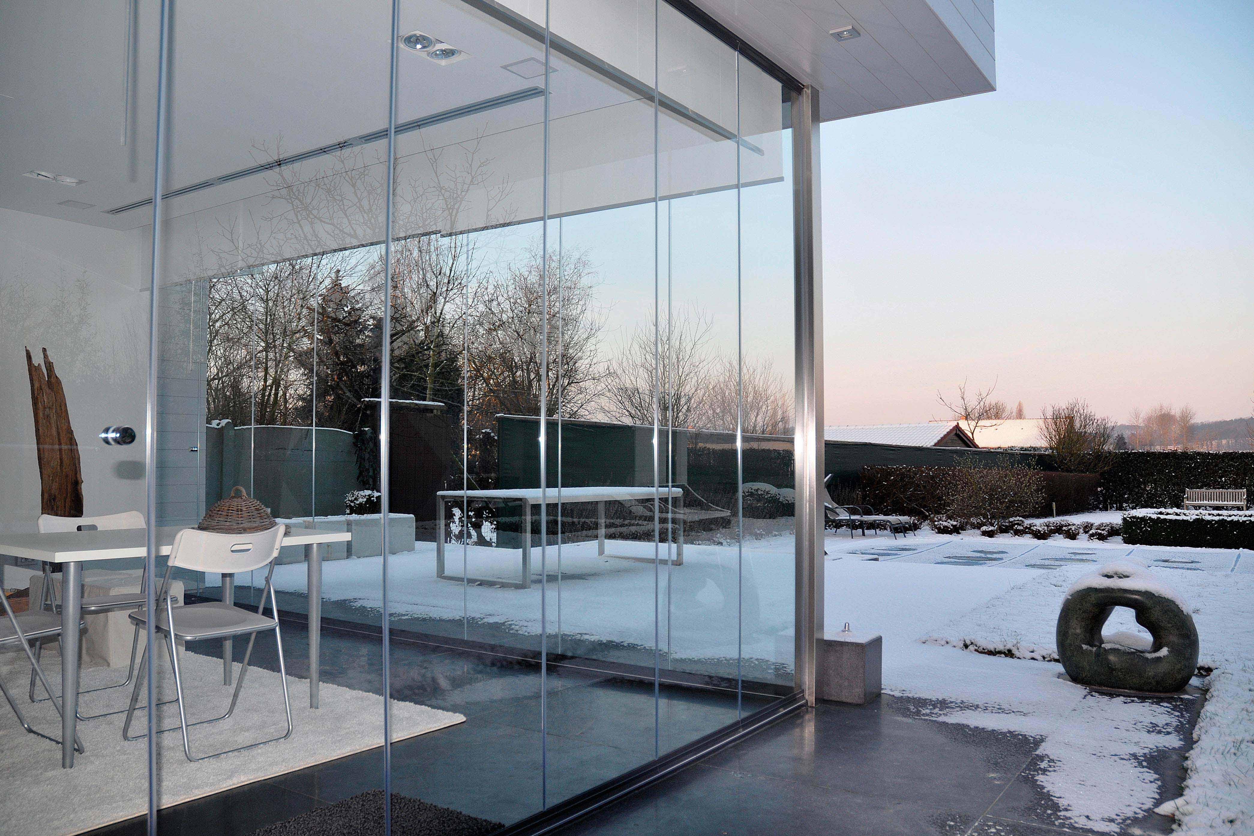 Cerramiento de cristal para porche en Bélgica