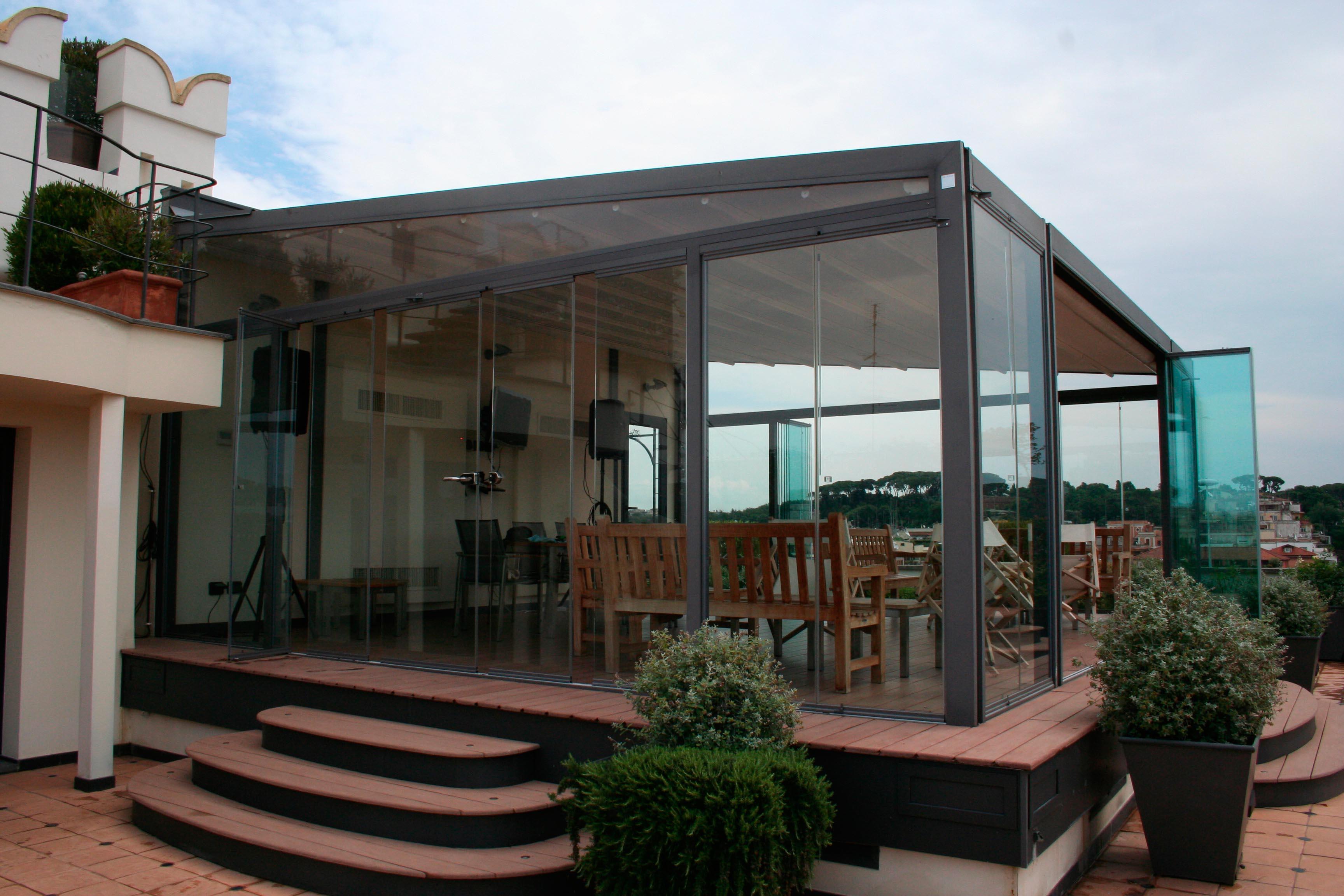 instalación cortina de cristal roma