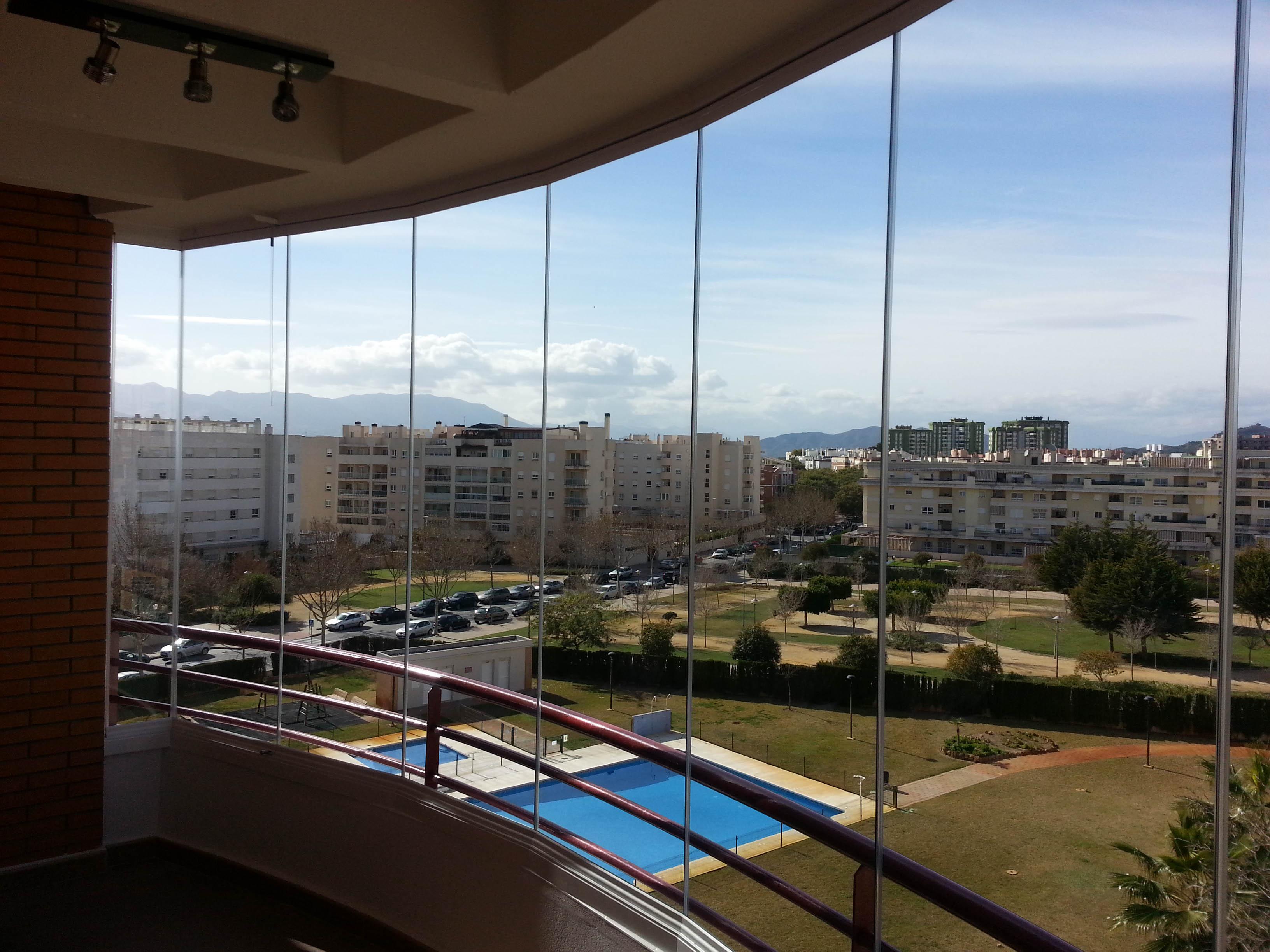 Cortinas de cristal en terraza en m laga todocristal - Terraza de cristal ...